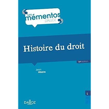Histoire du droit. Introduction historique au droit et Histoire des institutions publiques - 14e éd.