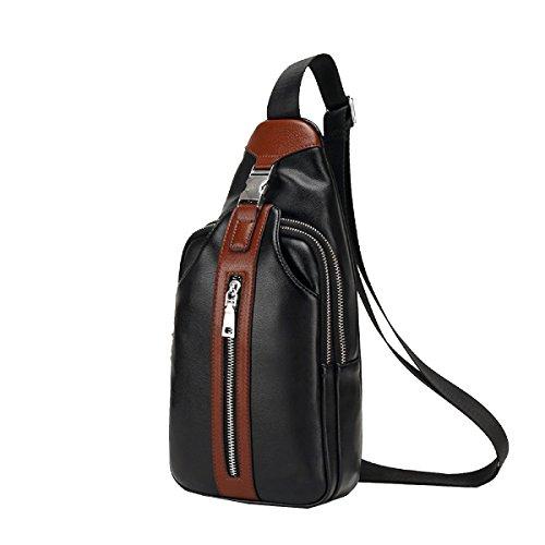 Yy.f Herren-Brusttasche Casual Messenger Bag Schulter Kleine Brusttasche Outdoor-Männer Tasche Kreuz-Umhängetasche Tasche Business-Sport Wandern Brown. 3 Farben Brown