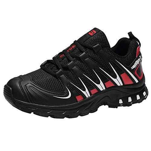 Wanderschuhe Herren, Holeider Trekkingschuhe Bergschuhe Hikingschuhe Sicherheitsschuhe Arbeitsschuhe Stoßdämpfung Atmungsaktiv Freizeitschuhe für Männer Sneaker Laufschuhe