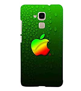 Apple, Green, Heart, Lovely Pattern, Printed Designer Back Case Cover for Huawei Honor 5c :: Huawei Honor 7 Lite :: Huawei Honor 5c GT3