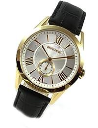 Pierre Cardin Uhr kleine Sekunde klassische Herrenuhr Leder SWISS PC106281S03
