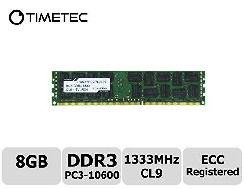 Timetec Nanya, aggiornamento modulo memoria server, alta qualità DDR31333MHz (PC310600), registrato ECC 1,5V CL92Rx4512x 4,2file, 240pin R DIMM, 8GB