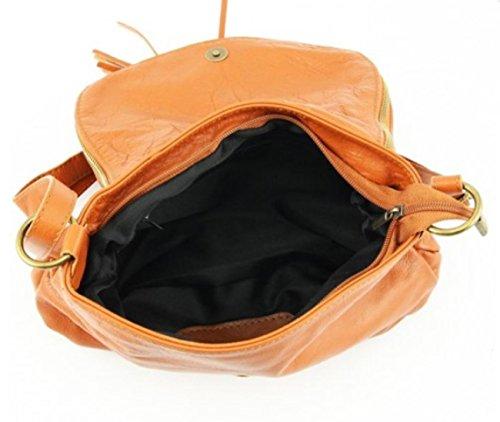 SUPERFLYBAGS Borsa Donna a Tracolla in vera pelle morbida modello Mada MEDIA Made in Italy cognac
