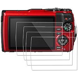 [Lot de 4] OOTSR Protecteur D'écran pour Olympus Tough TG-5 TG-4 TG-3, Protecteur de Verre Trempé pour Olympus TG-3 TG-4 TG-5 [Installation Facile sans Bulles]