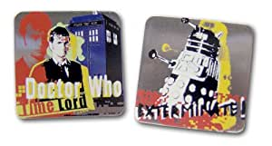 Time Lord and Exterminate Screen Print Cufflinks