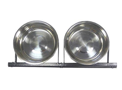Hundenapf - Lucky Dog Hundenapf-System, enthält zwei Hundenäpfe à 2 Liter mit sämtlichen Befestigungsteilen zum Anschrauben an einen Zwinger, das Hundenapf-System ist kompatibel mit allen Lucky Dog Zwingern