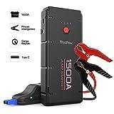 ABOX TrekPow Arrancador de Coches G22, 1500A Jump Starter con USB de 3.0 Puertos de Carga Rápida -...
