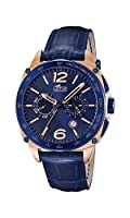 Lotus 18217/1 - Reloj de pulsera hombre, Cuero, color Azul