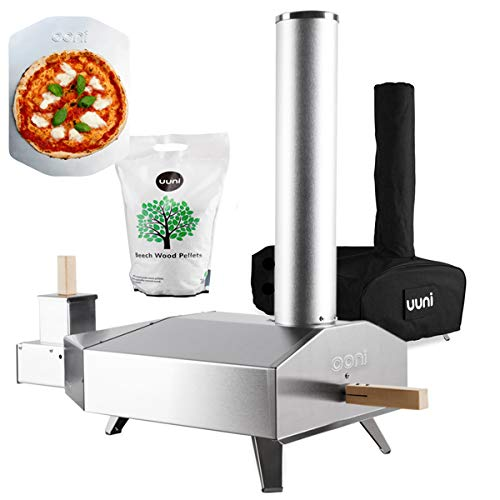 Uuni 3 Outdoor Oven with Cover and 3Kg Pellets Bundle