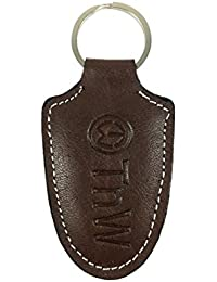 TnW Genuine Leather Brown Color Key Ring / Key Chain / Key Holder