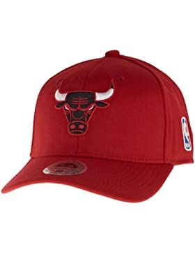 Mitchell & Ness Chicago Bulls Red EU227 Stretch Fit S/M Cap Kappe Basecap