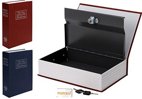 matrasa Safe im Buch - English Dictionary - Mini Tresor Geheimversteck Rot 002 Safe