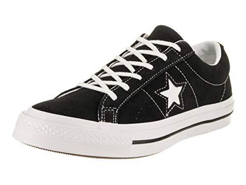Converse Lifestyle One Star Ox, Zapatillas para Hombre, Negro (Black White 001), 38.5 EU