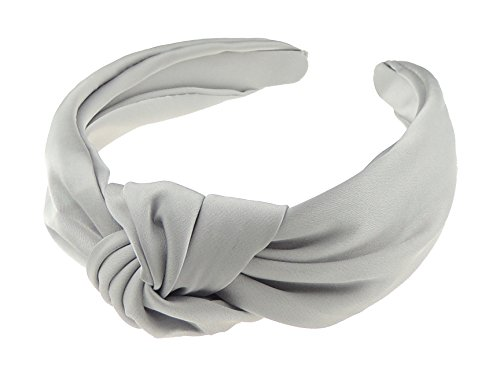 Glamour Girlz Damen Stirnband grau grau einheitsgröße (Grau Slinky)