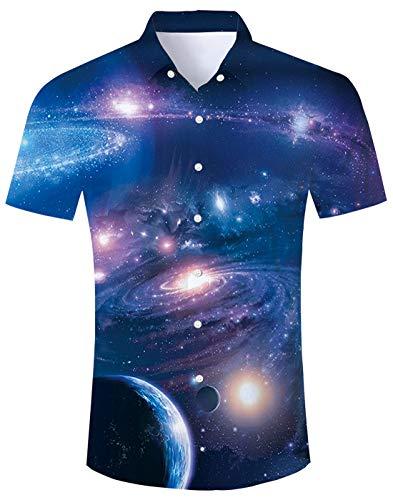 Fanient camicia estiva da uomo abbottonata camicie fantasia camicie da spiaggia camicie a maniche corte t-shirt da uomo hawaiano