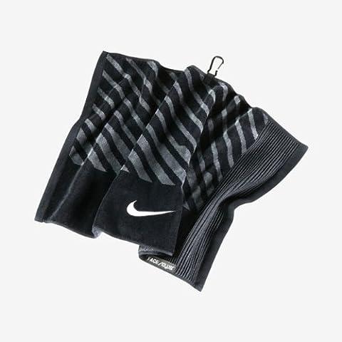 Nike Golf- visage/Club Serviette Jacquard, mixte, Black/White/Dark Grey, taille unique