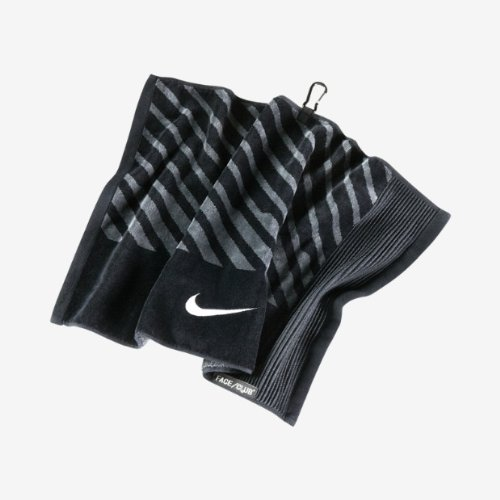 Nike Golf- visage/Club Serviette Jacquard, mixte, Black/White/Dark Grey