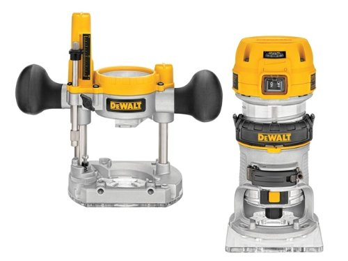 Advanced DeWalt D26204K 1/4in 8mm Premium Plunge & Fixed Base Combi Routers --