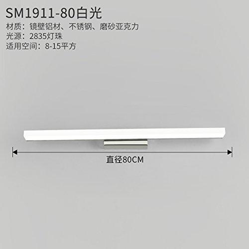 YU-K Modernos apliques de luz de espejo que no se empaña la vanidad baño apliques espejo led luces delanteras,80cm,12W luz blanca
