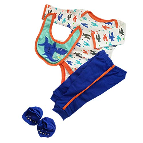 Baoblaze Niedliche Babypuppe Kleidung mit andere Zubehör für Neugeborenes Baby Puppen Dress Up - # A (Dress Up Doll Für Jungen)