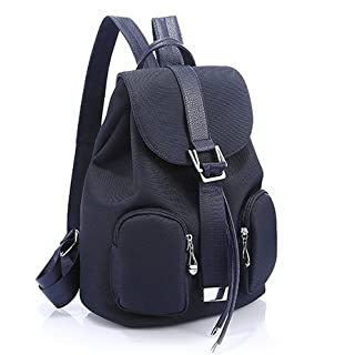akldigital Double Shoulder New Style Superior Quality Oxford Cloth Waterproof Backpack Rucksack Ladies Nylon Leisure Bag for Women Ladies Girls (blue)