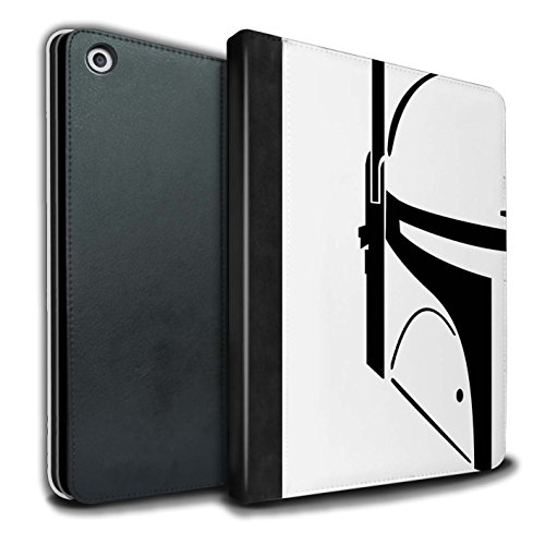 Stuff4® PU-Leder Hülle/Case/Brieftasche für Apple iPad 9.7 (2017) Tablet/Kopfgeldjäger Muster/Angriffs Trooper Helm Kollektion (Star Wars Tablet Case)
