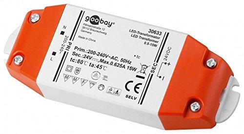Goobay LED Trafo 24V (DC) für 0,5 bis 15 Watt LED-Lampen, 1 Stück, 30633