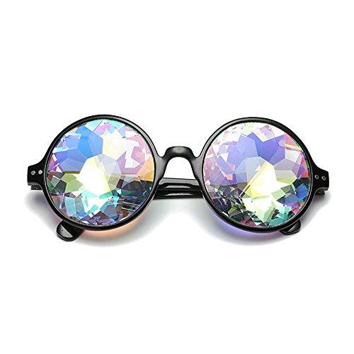 F.lashes Damen Kaleidoskop Brille Rave Festival Party Schmuck Sonnenbrille Linse Glasses - Festival Schmuck