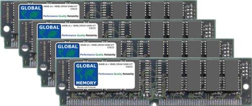 64MB (2x 32MB) DRAM SIMM Memory RAM KIT für Cisco 7200Router Netzwerk Processing Engine (mem-npe-64mb) - Router Memory Kit