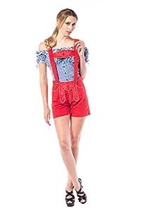 Tannhäuser Tann Casas 7262210Deluxe Tracht Pantalones, Rojo, XS