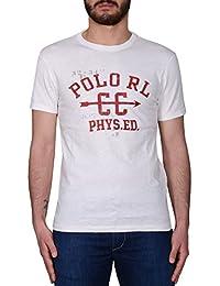 Ralph Lauren Homme A16XZ7P2XY7P2XW7G9 Blanc Coton T-Shirt