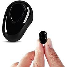 Mini auricular inalámbrico auricular invisible Bluetooth 4.1 con micrófono y llamadas manos libres con cancelación de ruido para el iPhone iPad Smartphones Android Auriculares IOS y Android (S520, 1pcs, lado derecho)