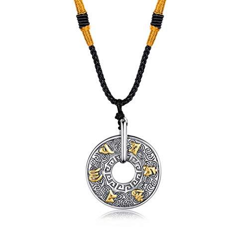 antra Pendant Titanium Steel Ring Pendant Halskette Auspicious Cloud Amulet Schmuck ()