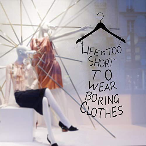 wandaufkleber 3d Wandaufkleber Schlafzimmer Zitate Das Leben ist zu kurz, um langweilige Kleidung Wandaufkleber Kleiderschrank Möbel selbstklebende Vinyl Aufkleber für Schlafzimmer zu tragen