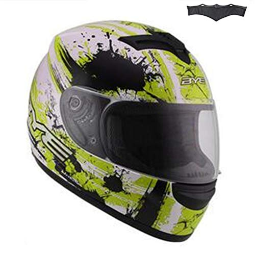 Qianliuk Schwarzer Glanz Motocross Downhill Helm Full Face Motobiker Helm Classic Fahrrad-Rennhelm - Fahrrad Helm Mohawk