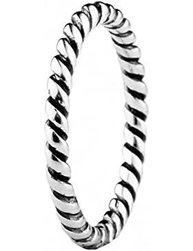 TAOTAOHAS Damen - Ringe Gr. 52 (16.6) Antik Sterling-Silber 925 mit, Ineinander