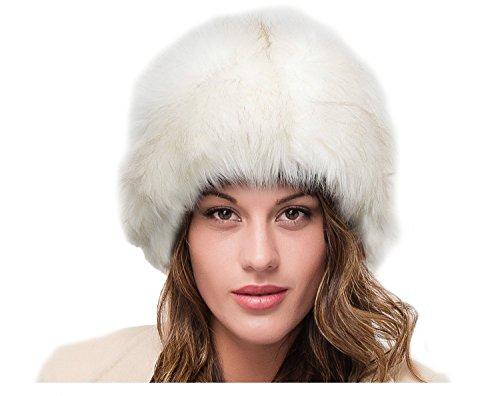 LADIES SUPERB QUALITY CREAM FAUX FUR WINTER RUSSIAN COSSACK CLOCHE