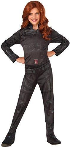 Marvel Kleid Comic (Mädchen Schwarze Witwe Marvel Captain America Civil War Superhelden Comic Büchertag Woche Halloween Kostüm Kleid Outfit 3 - 10 jahre - Schwarz, 5-7)