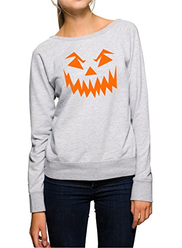 Halloween Face Sweater Girls Grey Certified Freak-XL