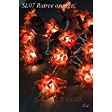 My Party Suppliers Handmade Orange Flower String Light / Fairy String Lights / Festival Decoration Lights / Wedding,Christmas,Wedding,Halloween,Decoration / Laterst Thailand Flower Light