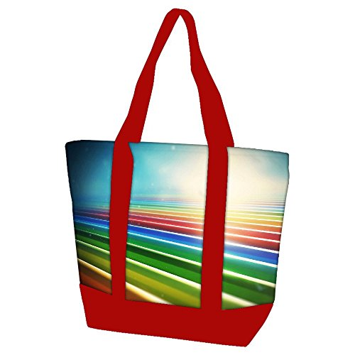 snoogg-sunrise-on-strips-22-heavy-duty-canvas-bag-with-shoulder-strap-zippered-top-closure-double-st
