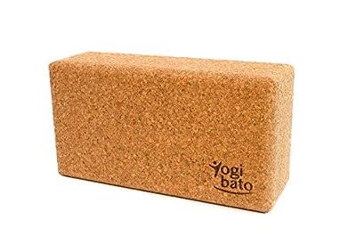 Yogibato Yoga-Block aus 100% Naturkork – 1er und 2er Pack – 22,5x12x7,5cm - Yoga-Klotz für Yoga und Pilates Übungen von Sebato