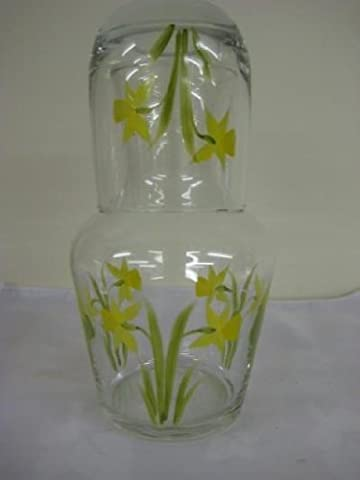 Hand painted Daffodil carafe