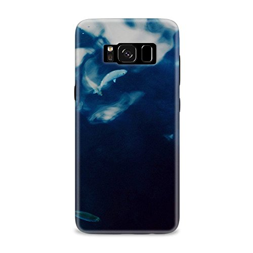 Samsung S8 Case, Samsung S8 Hard Protective SLIM Printed Cover [Shock Resistant Hard Back Cover Case] for Samsung S8 - Water Lake Fish Nature Indigo Blue  available at amazon for Rs.375