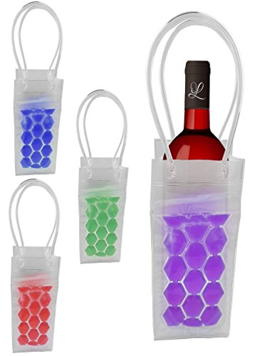 Flaschenkühler Weinkühler Sektkühler Spirituosenkühler Sekt Wein Kühler Kühlung (lila)