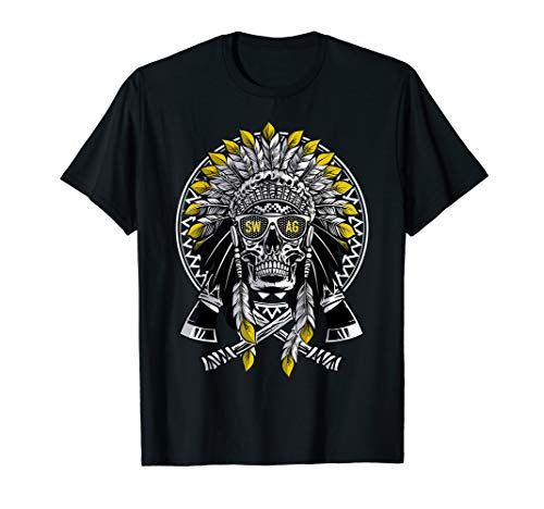 Hektik Hard Native American Swag Sonnenbrille Hip Hop T-Shirt