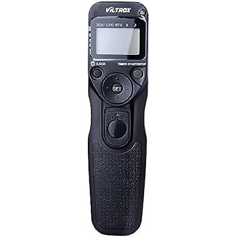 Viltrox MC-N1disparador remoto con temporizador, LCD, secuencial, sustituye mc-36a, para Nikon D810A, D810, D4S, D800, D800E, D700, D300, D200, D3S, D300S, D3X, distancia de funcionamiento de 80
