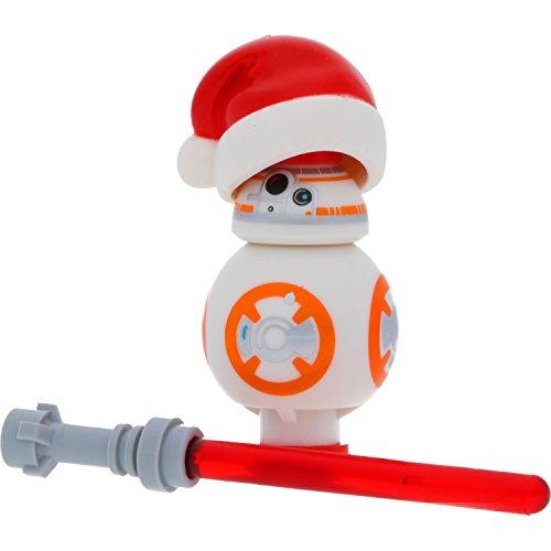LEGO Star Wars Figurenauswahl Darth Vader Yoda Ewok C-3PO und viele mehr mit GALAXYARMS Waffen (BB-8)