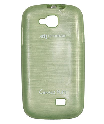 iCandy™ Soft TPU Shiny Back Cover For Micromax Canvas Fun A63 - Green  available at amazon for Rs.160