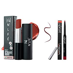 Nelf 9 To 6 Lipstick, Red Brick, 30g and Lip Definer, Berry Berry, 1g